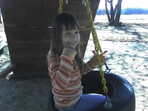 Megan having fun at the playground in Fbg.